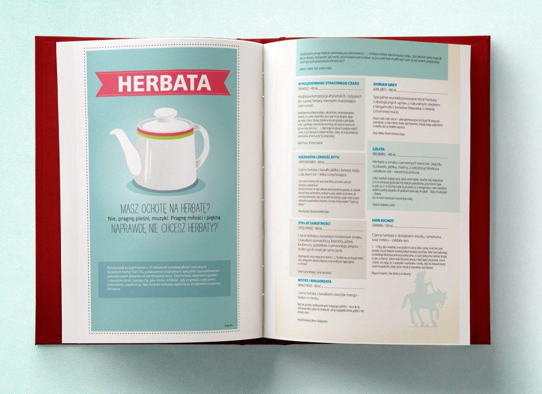 Menu literackie dla sieci kawiarni Matras Caffe. Wyjątkowe opracowanie dla gastronomii.