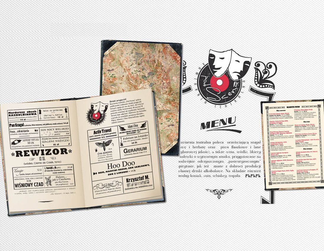 menu klub - design - 2Creo-DwaCreo-agencja reklamowa - agencja kreatywna