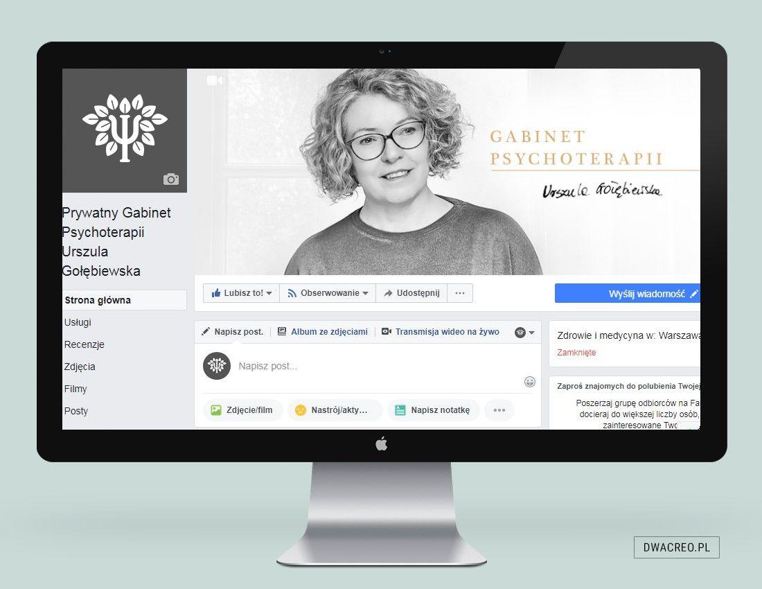 psychoterapeuta profil na facebooku firmy