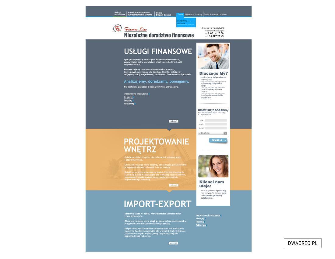 strony internetowe, financeline, finansowy, www, sklepy, blogi, projekt graficzny, szablon, teksty, zdjęcia