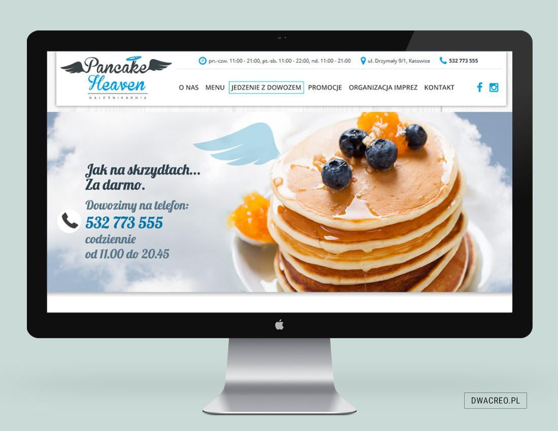 strony internetowe, pancakeheaven, restauracja, bistro, naleśnikarnia, pancakes