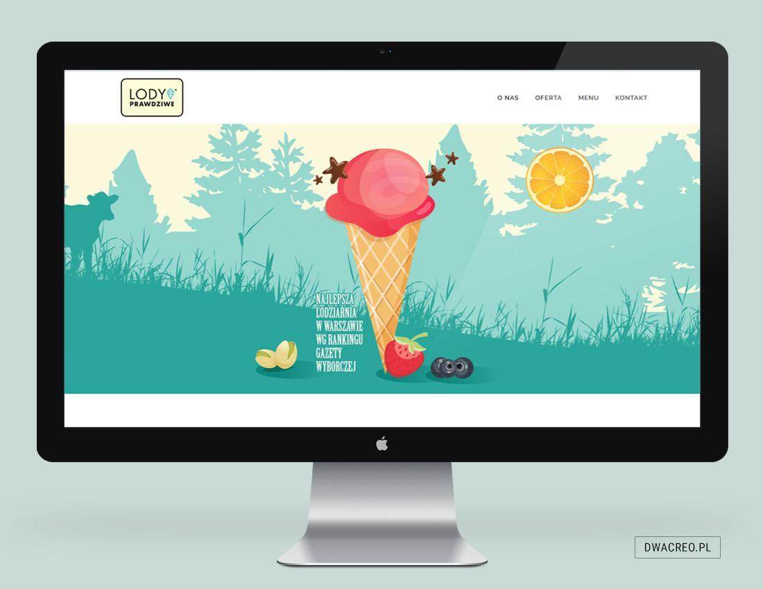 strona internetowa, www, gastronomia, lodziarnia, copywriting, grafika, programowanie
