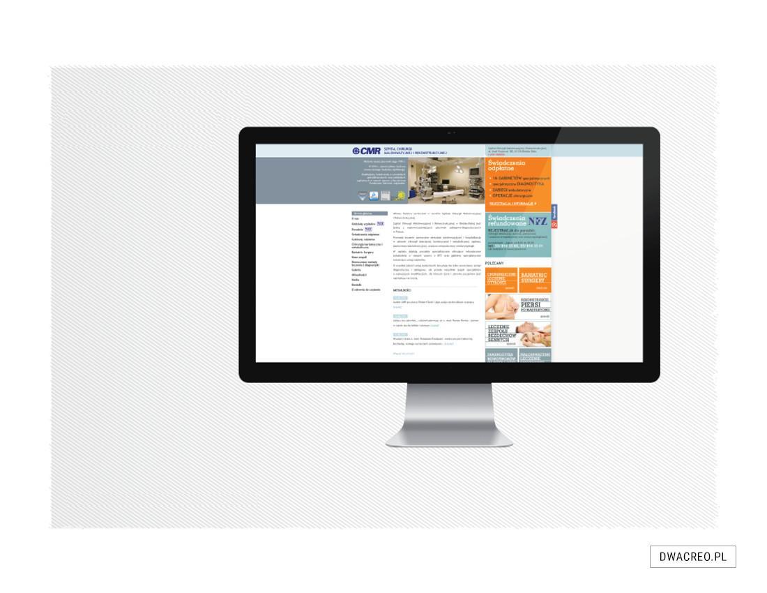 strony internetowe, cmr, slużba zdrowia, www, blogi, projekt graficzny, szablon, teksty, zdjęcia, copywriting