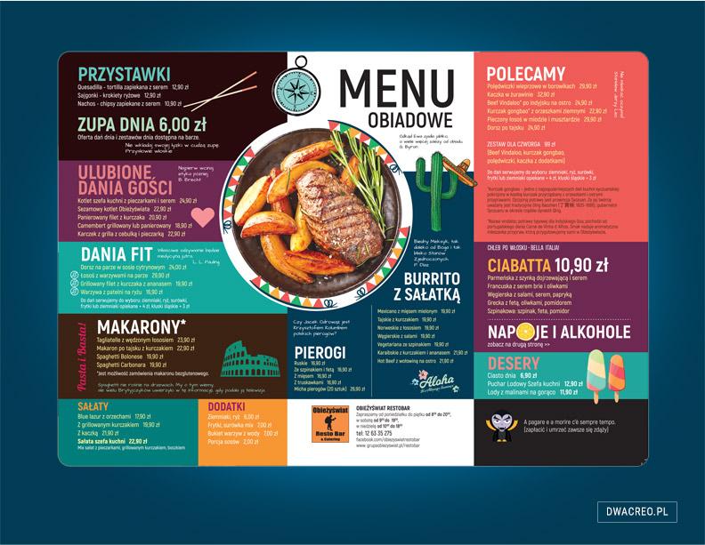 menu - obieżyświat - agencja - kreatywna