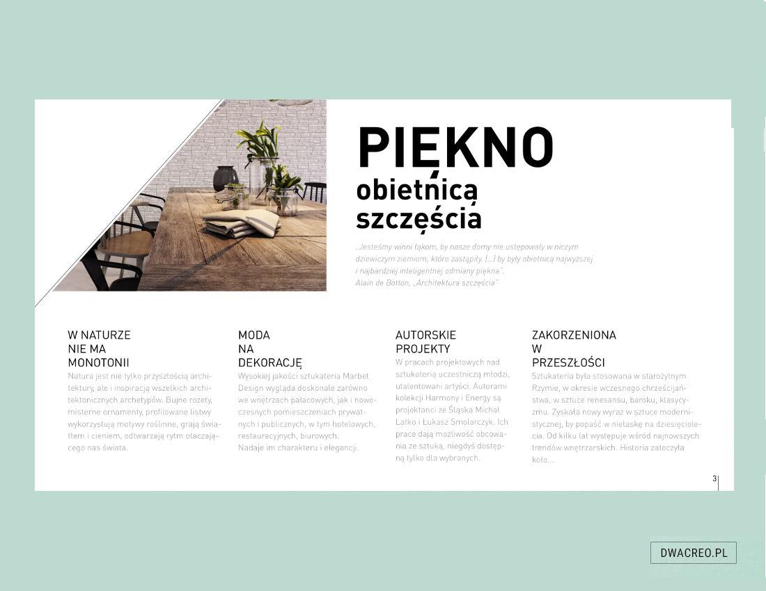Marbet Design - katalog produktowy